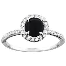 onyx engagement rings 10k white gold diamond jewelry color gemstone rings black onyx