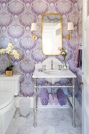farrow and bathroom ideas farrow s lotus pattern 2062 provides a dramatic backdrop for