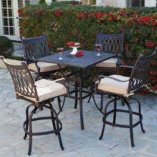 Bar Height Swivel Patio Chairs Outdoor Bar Height Patio Chairs Outdoor High Top Table Set 7