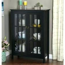 glass door cabinet walmart pantry cabinet black rumorlounge club