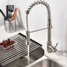 Kitchen Faucet With Sprayer Vccucine Best Modern Commercial Brushed Nickel Pull Out Sprayer