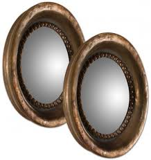 Mirror Sets For Walls Round Convex Mirror Set Of 2 Wall Mirrors Home Decor Intended For