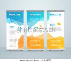 banner design jpg blue business roll up banner download free vector art stock