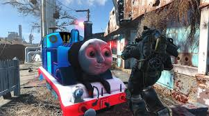 fallout 4 mod turns deathclaws thomas tank engine