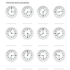 second grade reading clocks worksheet 05 u2013 one page worksheets