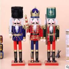 38cm wooden nutcracker soldiers puppet zakka creative