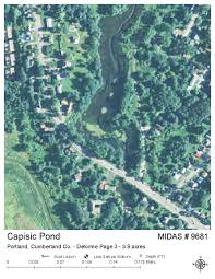 Portland Maine Map by Lakes Of Maine Lake Overview Capisic Pond Portland