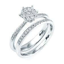 18ct white gold wedding ring 18ct white gold diamond bridal set rings from berry s jewellers