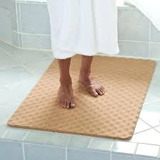 Bathroom Floor Rugs Bamboo Bath Rugs Excellent Cork Bath Mat The Green