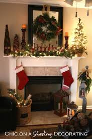 surprising fireplace christmas decorating ideas images decoration