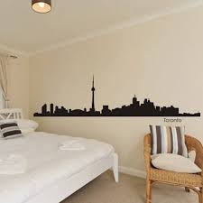 Home Decor Toronto Aliexpress Com Buy Toronto City Decal Landmark Skyline Wall