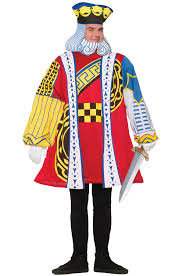 cardsadult mardi gras brand new king of cards men costume ebay