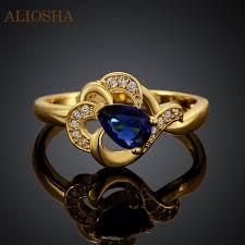 girls stone rings images 11 11 aliosha elegant designer blue stone ring gold plated rings jpg