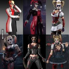 ps4 themes harley quinn whats your favorite harley quinn look in a arkham wb games