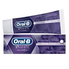 toothpaste whitening 3d white luxe pearl shine whitening toothpaste oral b