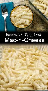 homemade real food macaroni and cheese recipe