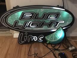 bud light light up sign bud light lime sign that lights up 30 cash collectibles in denver co