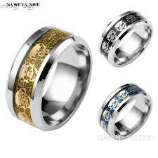 steel skull rings images Never fade stainless steel skull ring gold filled blue black jpg