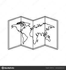 World Map Icon by World Map Paper Geography Icon U2014 Stock Vector Yupiramos 135401132
