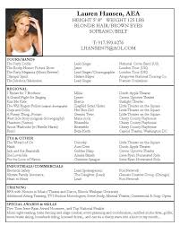 Model Resume Format Acting Resume Sample No Experience Http