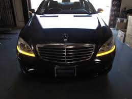 2010 mercedes s550 lights 2009 mercedes s class w221 depo facelift style led xenon d1s