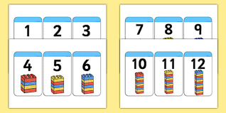 counting numbers 1 to 20 build a tower 1 20 building block number cards counting