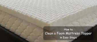 how to clean a foam mattress topper in easy steps u2022 insidebedroom