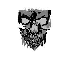 Scary Halloween Skeleton Scary Skull 2 Clip Art At Clker Com Vector Clip Art Online