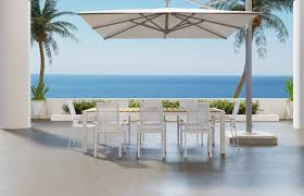 aviana outdoor dining table white perfect for urban patios
