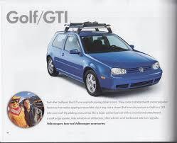 Jetta Roof Rack by Volkswagen Accessories Brochure 1999 Jetta Passat Beetle Golf Gti