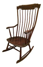antique federal period boston windsor rocking chair chairish