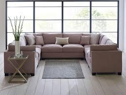 Microfiber Sofa Sectionals Sofa Sectional Furniture Modular Sofa Navy Blue Sectional