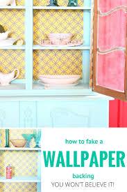 diy bookshelf wallpaper backing how to fake it refunk my junk