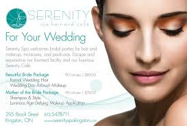 bridal makeup package get ready for your wedding at serenity spa special