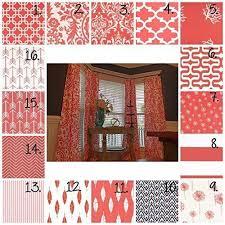 Chevron Nursery Curtains Coral Curtain Panels Coral Drapes Coral Nursery