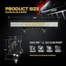 Atv Light Bar Auxbeam 20 U2033 126w Led Light Bar 8820lm 12600lm Cree Combo Beams