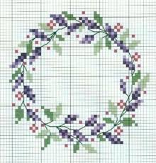 15 floral wreath cross stitch patterns