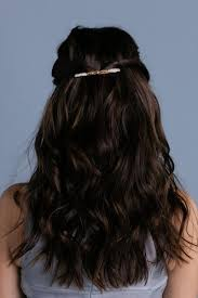 medium hair styles with barettes this simple sleek barrette makes for a very subtle addition to