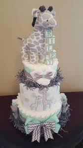 diper cake baby giraffe baby shower centerpieces shower centerpieces and