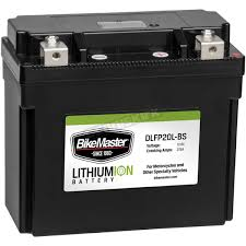bikemaster lithium ion battery dlfp 20l bs atv motorcycle