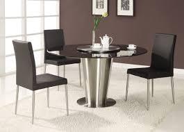 Mid Century Modern Round Dining Table Wondrous Modern Round Kitchen Tables 126 5pcs Modern Espresso
