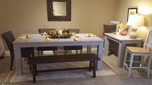 custom painted paris grey dining table