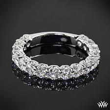 shine wedding band designed to shine 1 60ctw platinum s u prong 3 4