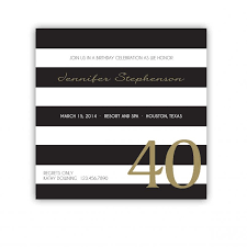design elegant 40th birthday invitations female with