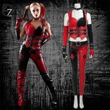 Vidia Halloween Costume Batman Arkham Asylum Harley Quinn Costume Carnival Halloween