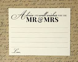 Bridal Shower Wish Advice And Well Wishes For The Mr And Mrs Wedding Advice