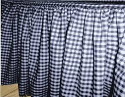 Blue And White Gingham Curtains Blue Gingham Check Ruffled Bedskirt Regular Or Extra Long