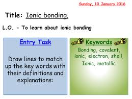 ionic bonding worksheet by jechr teaching resources tes