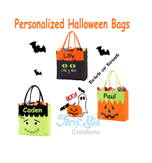 personalized halloween treat bags personalized halloween trick or treat totes monogrammed halloween