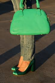 and bright green fashioned chic